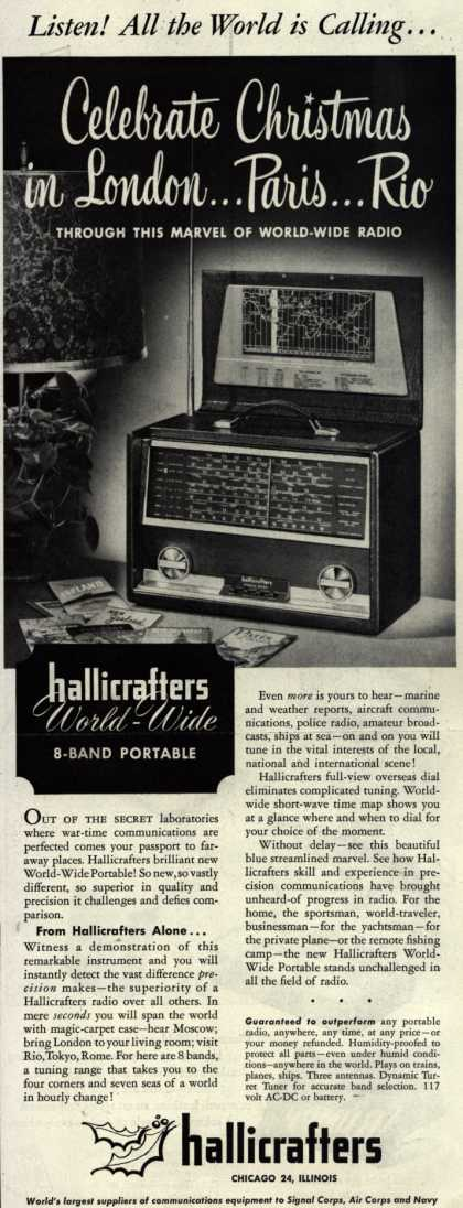 Hallicrafters Company's World Wide Portable – Listen! All the World is Calling... (1952)