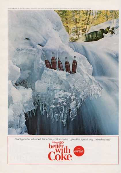 Coca Cola Coke Bottles On Ice (1964)