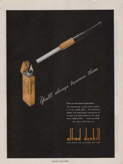 Alfred Dunhill Filter Holder & Lighter (1947)
