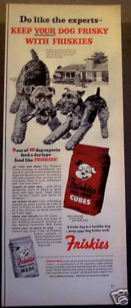 Welsh Terriors Friskies Dog Food (1953)