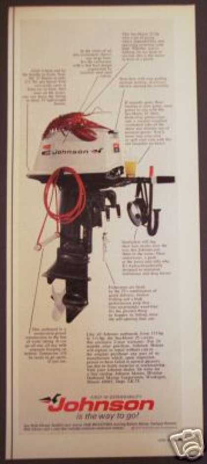Johnson Sea Horse 25 Outboard Motor Lobster (1970)