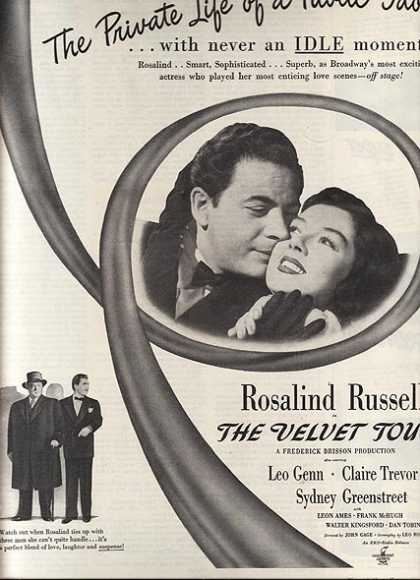 The Velvet Touch (Rosalind Russell, Leo Genn, Claire Trevor and Sydney Greenstreet) (1948)