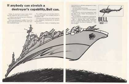 Navy LAMPS Ship art Bell Helicopter (1971)