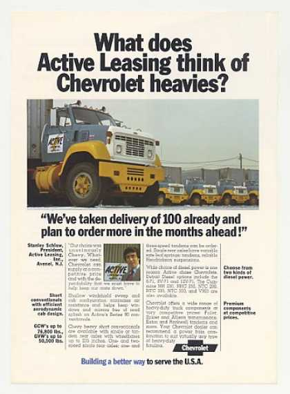 Active Leasing Chevy Heavy-Duty Trucks Photo (1972)