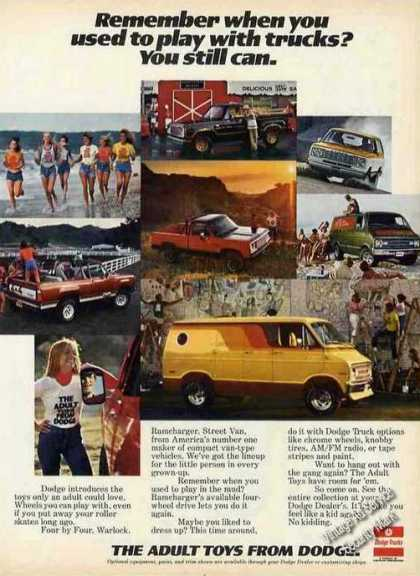 "Dodge Truck Photos ""Adult Toys"" Collectible (1977)"