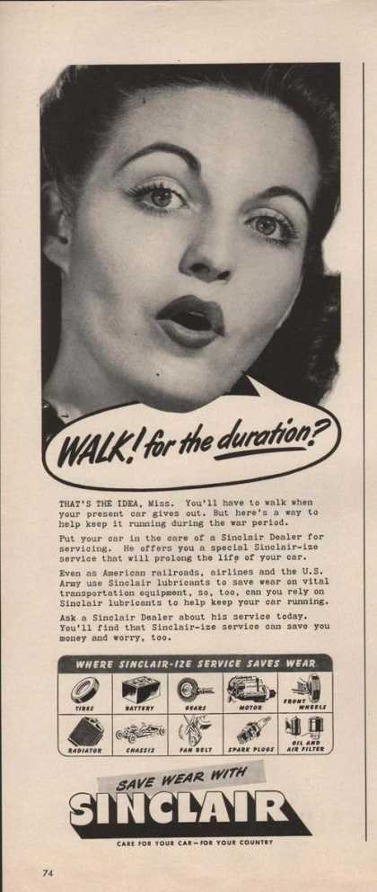 Sinclair Dealer Walk for the Duration (1942)