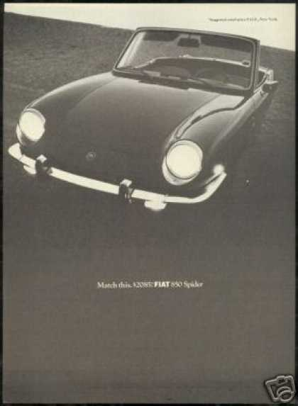 Fiat 850 Spider Car Vintage Photo (1968)