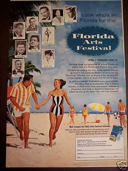 Florida Arts Festival Movie Tv Stars Photo (1965)