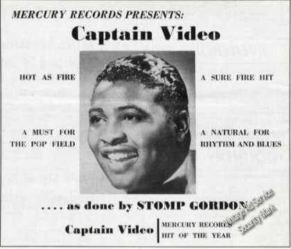 Stomp Gordon Photo Captain Video Music (1954)