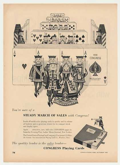 Congress Playing Cards Steady March Sales Trade (1953)