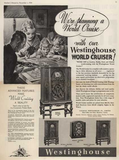 Canadian Westinghouse Company Limited&#8217;s World Cruiser &#8211; We&#8217;re planning a World Cruise with our Westinghouse World Cruiser (1934)