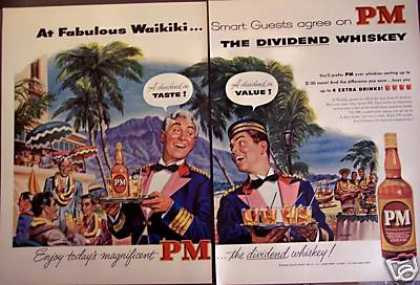 Waikiki Art By Englert Pm Whiskey (1953)