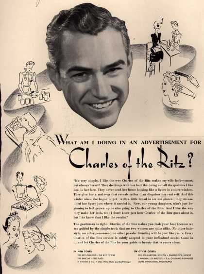 Charles of the Ritz's Cosmetics – What Am I Doing In An Advertisement For Charles of the Ritz? (1941)
