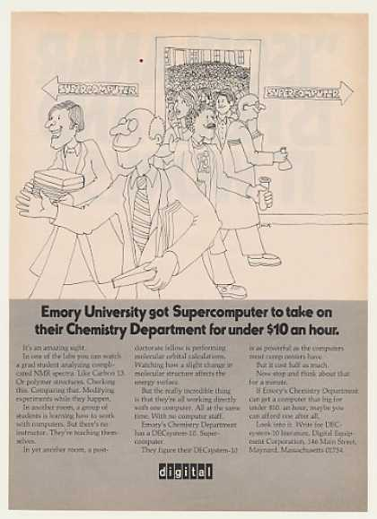Emory Univ Digital DECsystem-10 Supercomputer (1971)