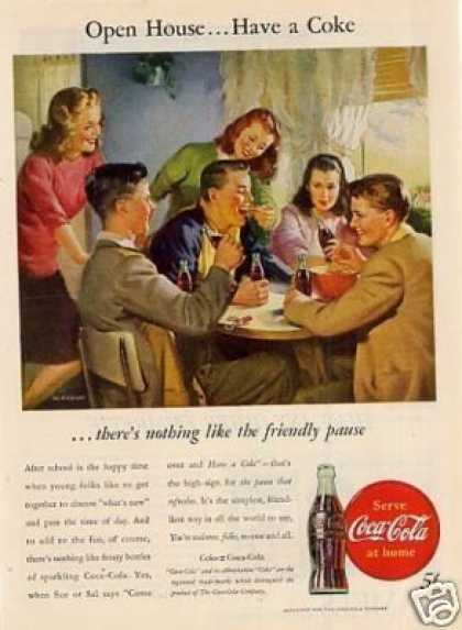 "Coca-cola Ad ""Open House... (1946)"