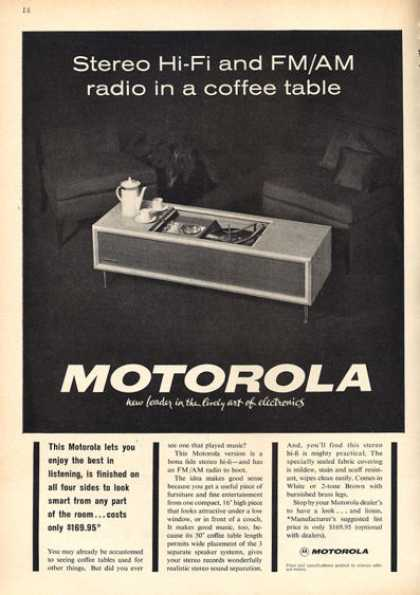 Motorola Hifi Stereo Coffee Table (1963)