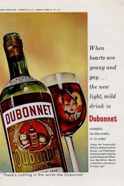 Dubonnet When Hearts Are Young and Gay - (1965)