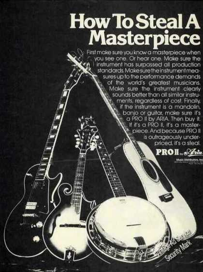 Pro Ii By Aria Guitars/banjos (1976)