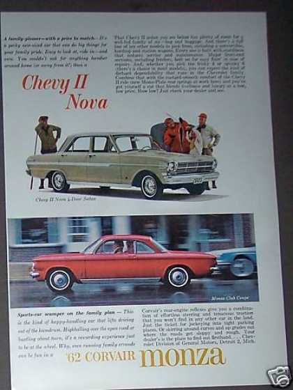 Chevy Ii Nova and Corvair Monza Car (1962)