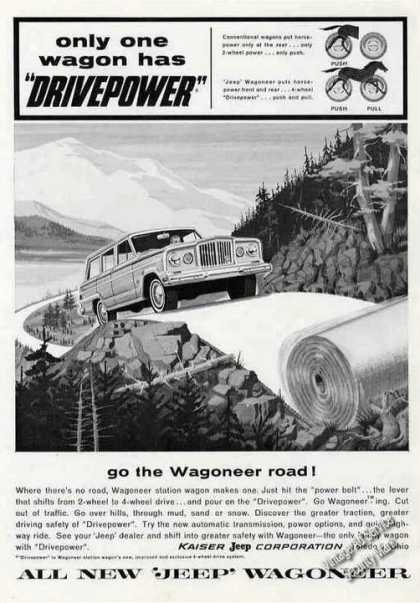 "Jeep Wagoneer Has ""Drivepower"" Collectible (1963)"