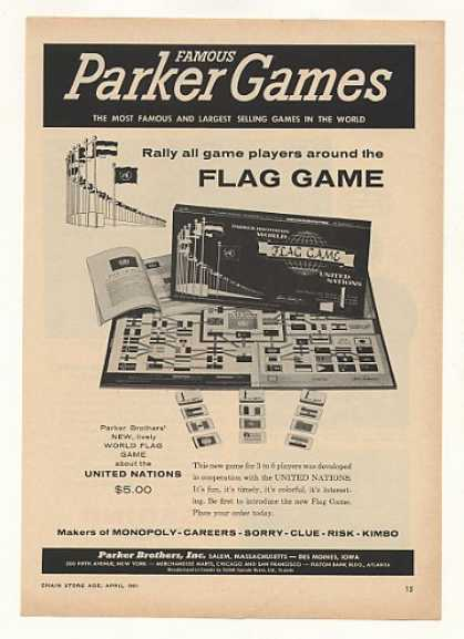 Parker United Nations World Flag Game Trade (1961)