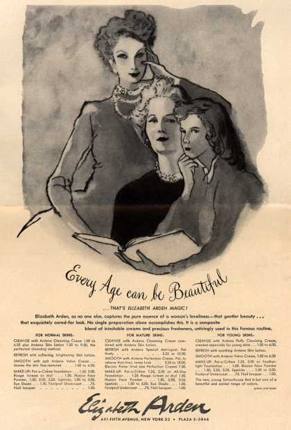 Elizabeth Arden's Creams – Every Age can be Beautiful (1949)