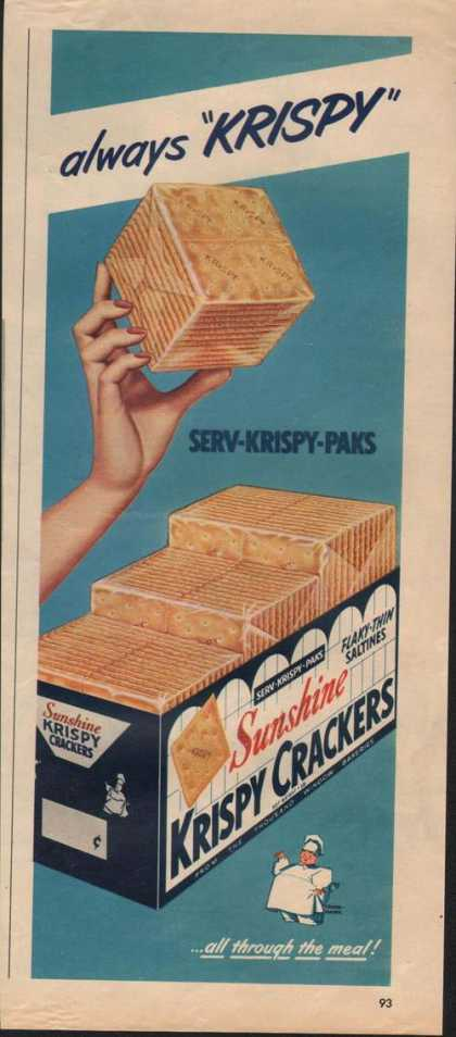 Sunshine Drispy Crackers (1951)