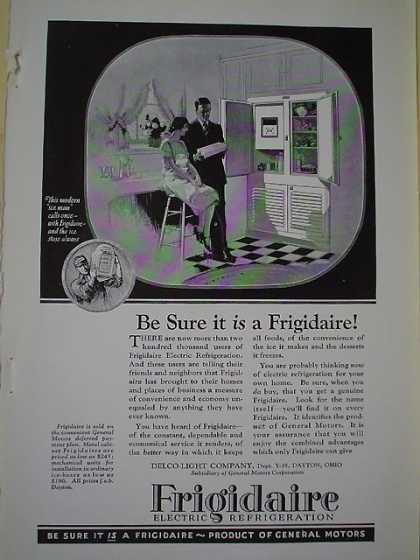 Frigidaire Electric Refrigeration Product of General Motors (1926)