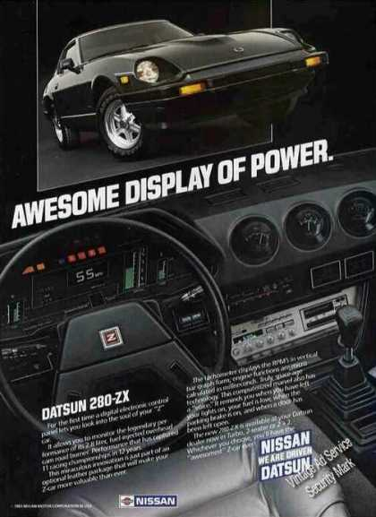 "Datsun 290-zx ""Awesome Display of Power"" Nice (1983)"