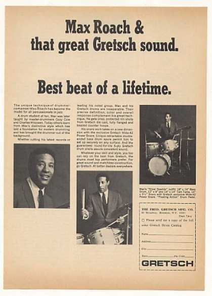 Max Roach Gretsch Drums Photo (1966)