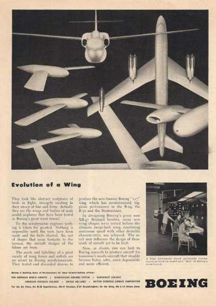 Evolution of a Wing Boeing Aircraft Print (1948)