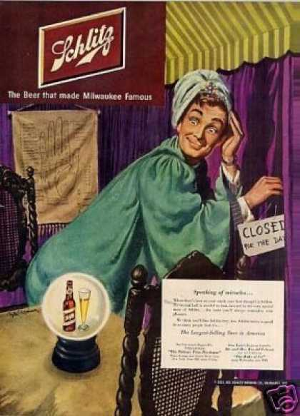 Schlitz Beer Ad 'speaking of Miracles... (1951)