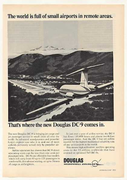 Douglas DC-9 Jet Small Airport Remote Area (1967)