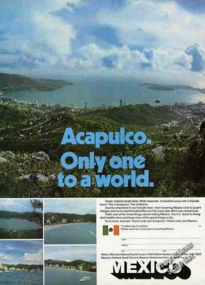 "Nice Acapulco Photo ""Only One To a World"" (1973)"