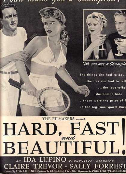 Fast and Beautiful Hard (Ida Lupino) (1951)