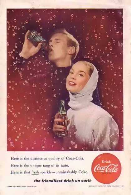 Coke Unique tang of its taste (1956)
