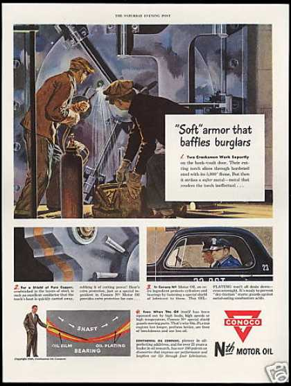 Burglar Safe Hard Soft Steel Police Conoco Oil (1949)