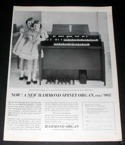 Hammond Spinet Organ, Twin Girls Ex (1961)