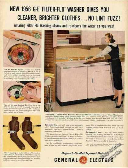 Ge Filter-flo Pink Clothes Washer Collectible (1956)