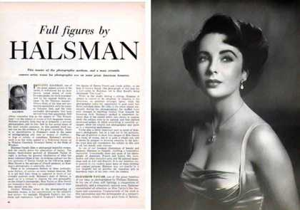 Elizabeth Taylor Mag. Photo & Article – by Philippe Halsman (1951)