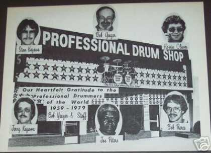 Bob Yeager Professional Drum Shop (1979)