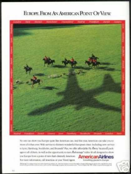 Europe Fox Hunt Photo American Airlines (1989)