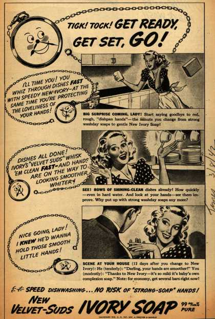 Procter & Gamble Co.'s Ivory Soap – Tick! Tock! Get Ready, Get Set, GO (1942)