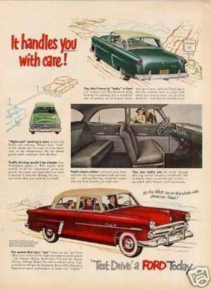 "Ford Car Ad ""It Handles You With Care... (1952)"