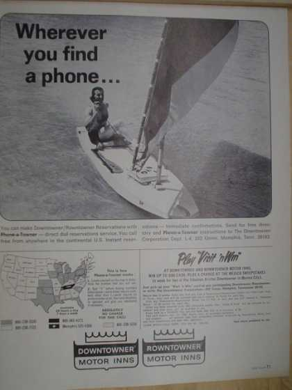Downtowner Rowntowner Motor Inns Wherever you find a phone (1968)
