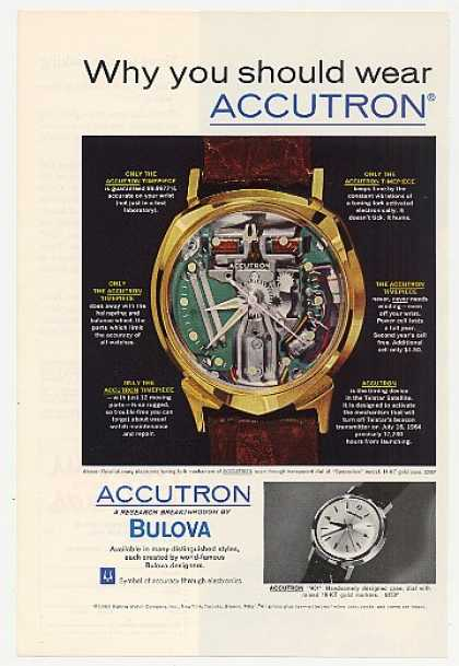 Bulova Accutron Spaceview Watch Photo (1963)