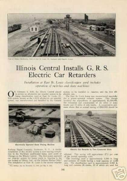 """Illinois Central Installs Electric Car Retarders"" (1926)"