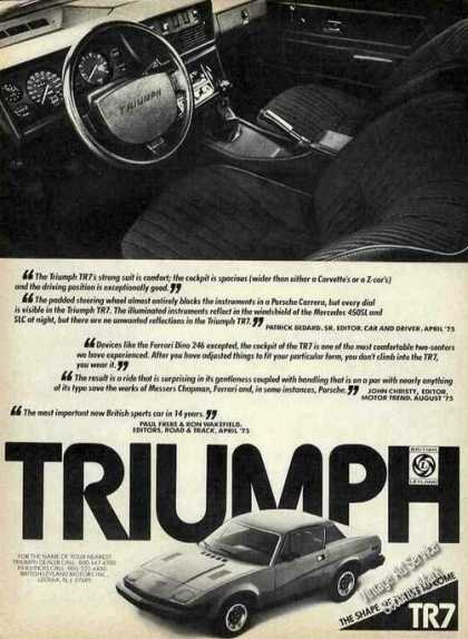 Triumph Tr7 British Sportscar Photos (1976)
