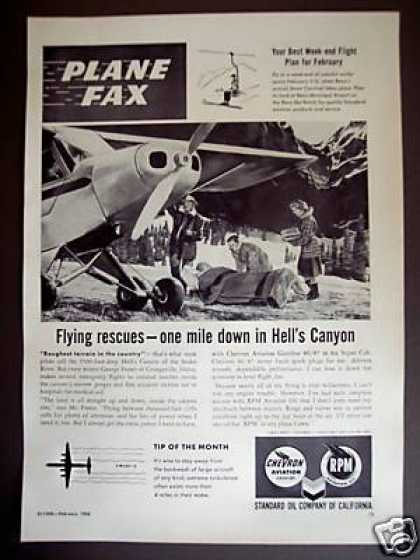 Flying Rescue In Hell's Canyon Standard Oil Co (1956)