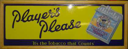Player's Please Cigarettes sign